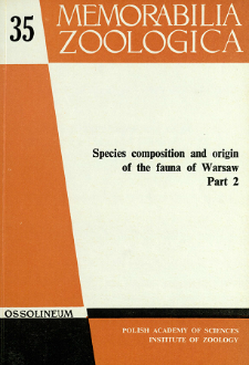 Species composition and origin of the fauna of Warsaw. P. 2 - spis treści