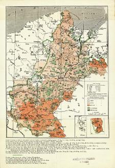"""Mapa etnograficzna Pomorza i Poznańskiego wydana w r. 1913 przez """"Ostmarkenverein"""""""