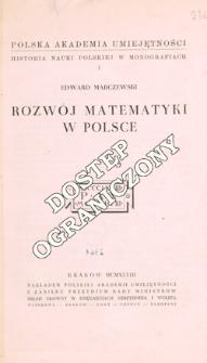 Rozwój matematyki w Polsce