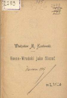 Hoene-Wroński jako filozof