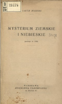 Mysterium ziemskie i niebieskie