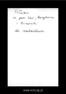 Połazie. Kartoteka powiatu liwskiego w średniowieczu. Kartoteka Słownika historyczno-geograficznego Mazowsza w średniowieczu