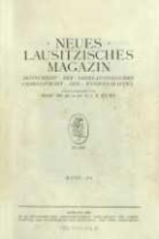 Neues Lausitzisches Magazin. (1928-1930) Bd. 104-106