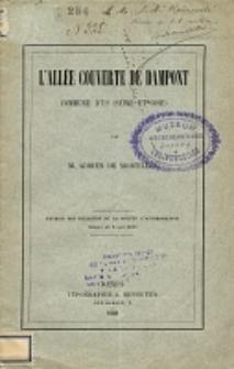 L'allée couverte de Dampont, commune d'Us (Seine-et-Oise)