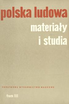 Polska Ludowa : materiały i studia. T. 3 (1964), Strona tytułowa, Spis treści