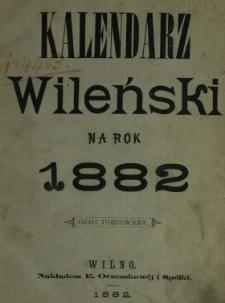 Kalendarz Wileński na Rok 1882