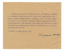 Materiały i notatki dotyczące egzaminów w roku akad. 1933/34 i 1934/35