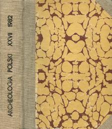 Archeologia Polski T. 27 (1982. - 1983 ) Z. 2, spis treści