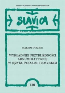 Wykładniki przybliżoności adnumeratywnej w języku polskim i rosyjskim