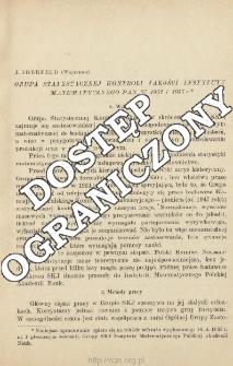 Grupa statystycznej kontroli jakości Instytutu Matematycznego PAN w 1952 i 1953 r.