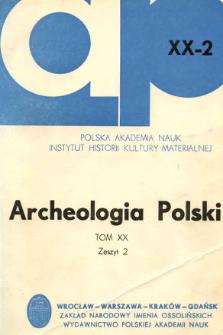 Nowa kultura górnopaleolityczna w Europie Środkowej : ze studiów nad materiałami ze stanowiska Zwierzyniec I