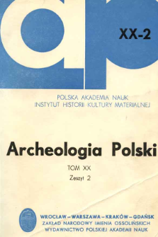 Archeologia Polski. Vol. 20 (1975) No 2, Reviews