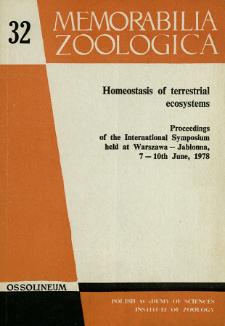 Homeostasis of terrestrial ecosystems : proceedings of the International Symposium held at Warszawa - Jabłonna, 7-10th June, 1978