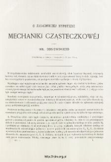 O zasadniczej hypotezie Mechaniki Cząsteczkowej