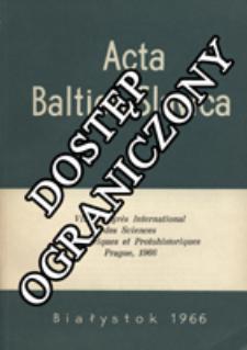 Acta Baltico-Slavica T. 4 (1966)