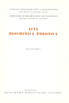Acta biochimica Polonica, Vol. XII, No. 2, 1965