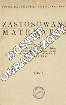 Zastosowania Matematyki, Spis treści i dodatki. T.1 (1954)