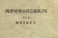 Noworocznik dla Dzieci 1831