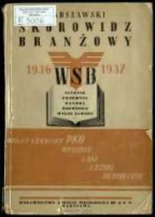 Warszawski skorowidz branżowy na rok 1936-37 : obejmuje: finanse, przemysł, handel, rzemiosło, wolne zawody