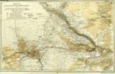 Karta vostočnoj časti Zakaspìjskoj oblasti : s'' oboznačenìem'' proektirovannago kanala dlâ propuska vod'' r. Amu Dar'i v'' Mervskìj i Tedženskìj oazisy
