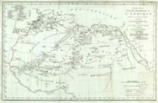 Esquisse de la partie septentrionale de l'Afrique tracée en 1790 et corrigée en 1793 par le major Rennell, d'après les notions géographiques recueillies par la société d'Afrique : dans laguelle outre de graves omissions réparées le Voyage de Lemprières à Maroc en 1789 a été fidélèlement Tracé