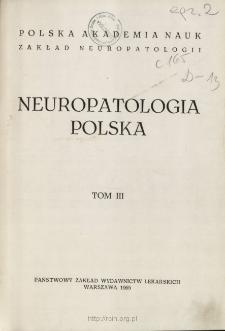 Neuropatologia Polska T.3 z.1-2 (1965)