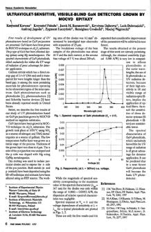 Ultraviolet-sensitive, visible-blind GaN detectors grown by MOCVD epitaxy