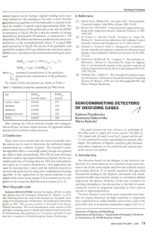 Semiconducting detectors of oxidizing gases