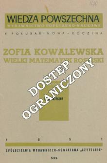 Zofia Kowalewska : wielki matematyk rosyjski