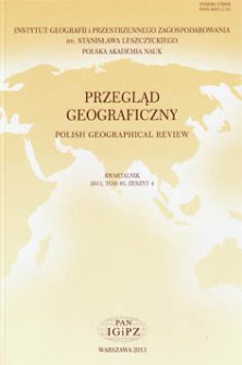Nowe podejścia badawcze w geografii zdrowia w literaturze anglosaskiej = New research approaches in the geography of health as exemplified in scientific literature in the English-speaking world
