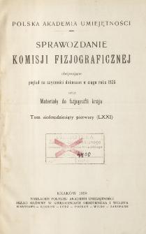 Sprawozdanie Komisji Fizjograficznej T. 71 (1936)