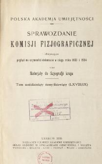 Sprawozdanie Komisji Fizjograficznej T. 68-69 (1933 i 1934)