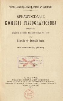 Sprawozdanie Komisji Fizjograficznej T. 61 (1926)