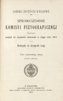 Sprawozdanie Komisji Fizjograficznej T. 48 (1913)