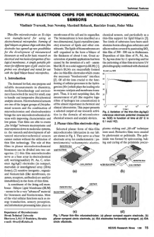 Thin-film electrode chips microelectrochemical sensors