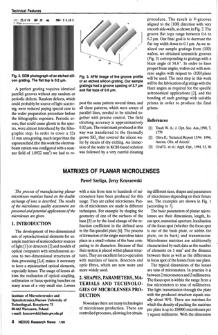 Matrixes of planar microlenses