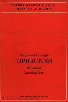 Opiliones - kosarze (Arachnoidea)