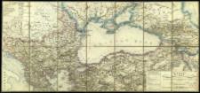 Karte der europäischen Türkei und des Gebiets des Schwarzen Meeres : enthalted grossen Theil Klein-Asiens, Süd-Russlands, einen Theil Persiens u. Kaukasien