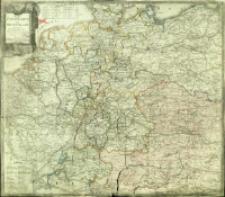 Neue Post Karte von Deutschland und einen Theile Frankreichs : nach den letzten Veränderungen u. geographischen Bestimmungen