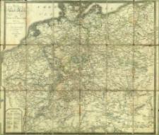 Neueste Post Karte von Deutschland und dessen angraenzenden Laendern