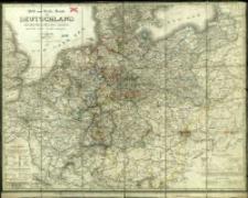 Post - und Reise - Karte von Deutschland und den benachbarten Ländern nach den besten Quellen