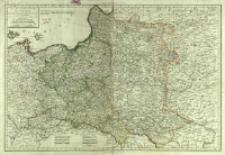 Carte de l'ancien Royaume de Pologne : partagé entre La Russie, La Prusse et L-Autriche par les Traités successifs de 1772. 1793 et 1795 contenant aussi Le Royaume de Prusse