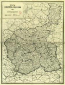 Mapa Królestwa Polskiego 1914