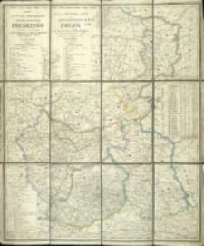 Karta pocztowa i przemysłowa Królestwa Polskiego = Post - und Industrie - Karte des Königreichs Polen nach den neuesten amtlichen Rapporten und den zuverlässigsten Quellen