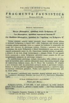 Mszyce (Homoptera, Aphidina) okolic Bydgoszczy II = Tli (Homoptera, Aphidina) okrestnostej Bydgoŝi II