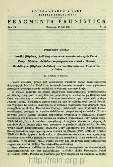 Łowiki (Diptera, Asilidae) stanowisk kserotermicznych Polski = Ktyri (Diptera, Asilidae) kserotermičeskih stacij v Pol'še