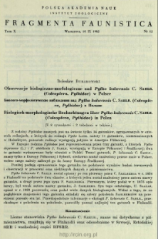 Bibionidae (Diptera) Doliny Nidy = Bibionidae (Diptera) doliny reki Nidy