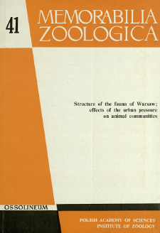 Structure of the fauna of Warsaw : effects of the urban pressure on animal communities. Pt. 1 - contens