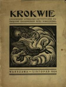 Krokwie : czasopismo literacko-artystyczne poświęcone zagadnieniom myśli nowoczesnej