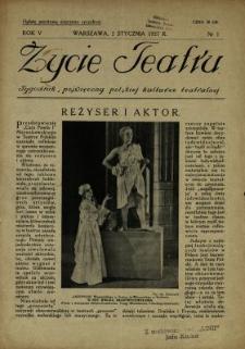 Życie Teatru : tygodnik, poświęcony polskiej kulturze teatralnej
